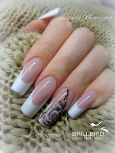 "From the deepest part of my heart, I bring to you ""Elegant Nail Arts for Ladies."" When you don't know the value of your nails, you will always feel cheated. These nail arts below would give a glimpse of what you should do. French Tip Acrylic Nails, Acrylic Nail Tips, Simple Acrylic Nails, Shiny Nails, Hot Nails, Hair And Nails, Elegant Nail Art, Nails First, Luxury Nails"