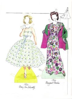 Fashion of the 40s & 50s - Paper Dolls Wardrobe by Norma Lu Meehan
