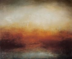 """From the series """"Somewhere in Reverie"""" this atmospheric, warming abstract landscape is painted on a quality, deep edge, 100% cotton canvas.  I love natural landscapes and seascapes. And I adore th..."""