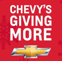 Come to Rudolph Chevrolet in El Paso, TX to browse our stunning selection of Chevy cars, trucks and SUVs, all featuring amazing deals from our Chevy's Giving More Year End Event. http://rudolphchevrolet.wordpress.com/2012/12/12/tis-the-season-and-chevys-giving-more/