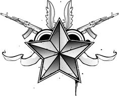 Guns And Nautical Star Tattoo Design Star Tattoo Designs, Tattoo Designs For Women, Star Designs, Design Tattoos, Tattoos For Guys, Cool Tattoos, Nautical Star Tattoos, Man Sketch, Star Wallpaper