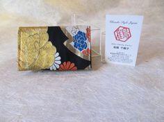 Japanese Credit Card Case Hide and Seek Kimono Card by KimonoTango, ¥1200