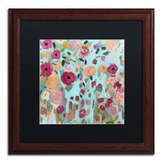 """Trademark Art 'Gypsy Soul' Framed Painting Print Size: 11"""" H x 11"""" W x 0.5"""" D, Frame Color: Brown, Mat Color: Black"""