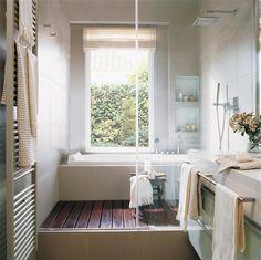 Virlova Interiorismo: [Decotips] ¿Ducha y bañera en menos de 10 m²?