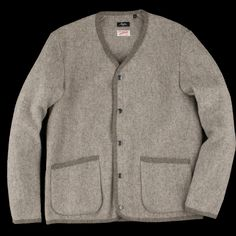 UNIONMADE - Arpenteur - Bonneval Wool Melton Arpin Blouson in Light Grey