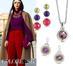 Get the look! Red hot reds with bold jewel-tone purple <3