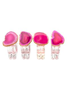 Napkin Rings with Agate (Set of 4)