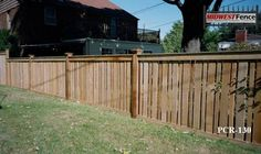 capped with alternating width pickets   Fence Ideas   Pinterest ...
