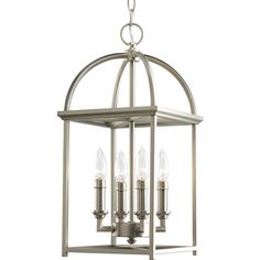 Progress Lighting Piedmont 9.4375-in 4-Light Burnished Silver Cage Chandelier. $275.20 at Lowe's
