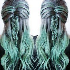 Elfjesachtige color ombre kapsels voor dames met lange haren!