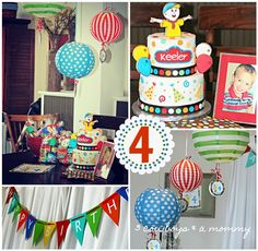 Caillou Birthday Party - I'm just a kid who's 4!  We'll see if she still loves Caillou...