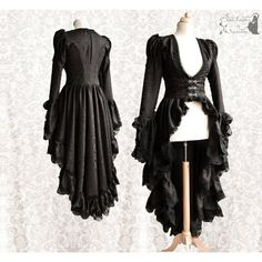 RESERVED Victorian Steampunk cardigan, goth black satin robe, lace,... (23,490 INR) ❤ liked on Polyvore featuring tops, cardigans, lacy cardigan, lacy tops, lace cardigan, satin top and gothic tops