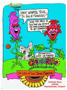 In lieu of flowers...