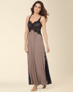 Soma Intimates Limited Edition Inspiration Guipure Lace Nightgown Mochaccino #somaintimates