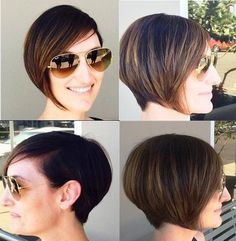 short stacked bob for thin hair
