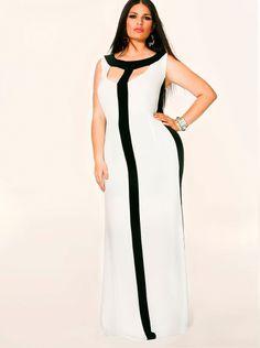 """Tessa"" Colorblock Maxi Dress"