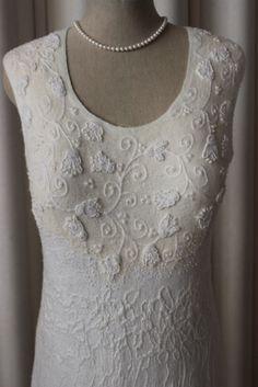 Nuno felting Wedding dress www.lydmilaart.fi  https://www.etsy.com/shop/Lydmila