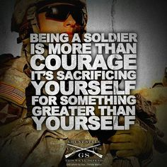 The people who serve in the military don't join for their own enjoyment. They join to protect us from all danger.