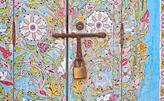 elaborately decorated wooden door | Moroccan Mirage inspirations from Dalani Home & Living Magazine