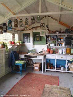 13 prefab sheds transformed into guest houses home offices and man caves is part of Garage art studio - 13 Prefab Sheds Transformed into Guest Houses, Home Offices, and Man Caves Garageart Studio Studio Hangar, Garage Art Studio, Studio Shed, Workshop Studio, Art Studio At Home, Workshop Shed, Workshop Design, Workshop Ideas, Home Art Studios