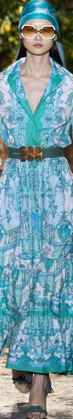 Etro Spring/Summer 2021 RTW Aqua Dresses, Spring Summer
