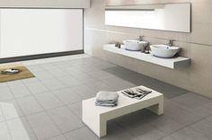 Neutral floor & wall tiles