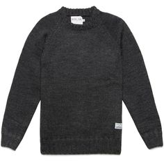 The Fisherman Knit Sweater from MKI is part of the brand's 100% British wool range. The heavyweight, chunky charcoal wool forms a loose knit with a healthy stretch for a more versatile and comfortable fit. A slightly raised ribbed crewneck acts as a nod to traditional fisherman silhouettes, while the sweater also boasts a ribbed cuff and hem alongside raglan sleeves.    MKI MIYUKI-ZOKU was established in 2010 and under the guidance of founder and creative director Vik ...