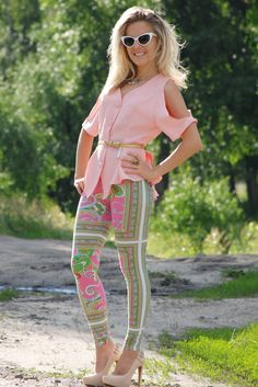 vintage, DIY cut out  Shirt / Blouses, River Island  Leggings and Jessica Simpson  Heels / Wedges