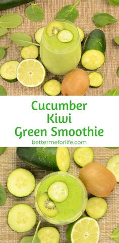 Looking for a light and refreshing smoothie? This great-tasting cucumber kiwi green smoothie is just what you need - and it's loaded with health benefits. Find the recipe on BetterMeforLife.com