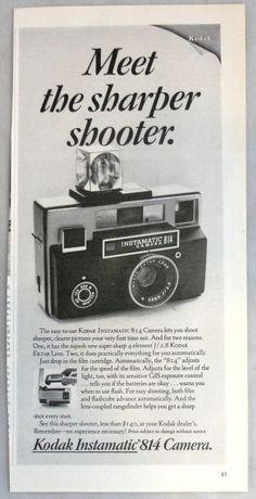 Vintage Advertisement 1969 Kodak Instamatic 814 Camera Print Ad TIME Magazine #Kodak