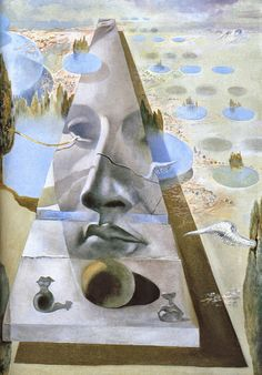 Aparicion del rostro de Aphrodita de Cnide - Salvador Dali, 1981. Fundación Gala-Salvador Dalí