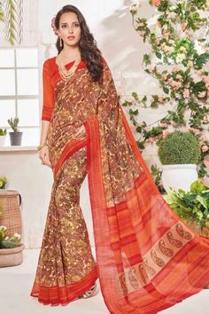 Designer Cream Art Silk Saree With Art Silk Blouse - DMV11532