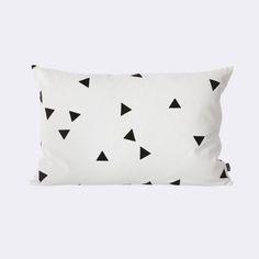 Via Ferm Living | Black and White | Mini Triangle Cushion