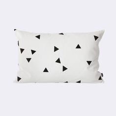 Black Mini Triangle Cushion - by ferm LIVING www.fermliving.com #fermLIVING