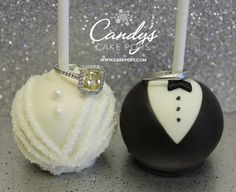 Candy's Cake Pops: Bride & Groom Cake Pops – Perfect for any occasion. Shipping Nationally!