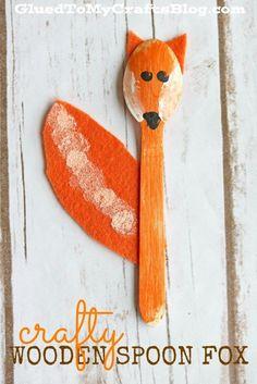 Wooden Spoon Fox - Kid Craft