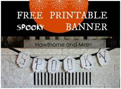 FREE Spooky Halloween Banner