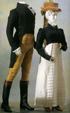 Male and female riding outfits, 1815