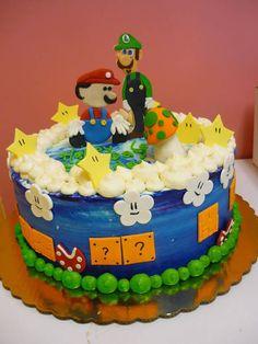 creative video game cakes #mario #luigi #nintendo #gaming