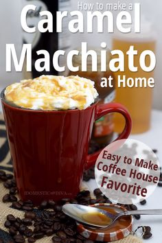 Methods to Make a Caramel Macchiato at Dwelling (recipe) - Gourmandise - Coffee Recipes Keurig Recipes, Nespresso Recipes, Starbucks Recipes, Ninja Coffee Bar Recipes, Coffee Drink Recipes, Coffee Drinks, Iced Coffee, Decaf Coffee, Ninja Recipes