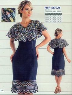 Sesgo One Shoulder, Shoulder Dress, Short Sleeve Dresses, Dresses With Sleeves, Crochet, Womens Fashion, Salsa, Google, Templates