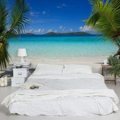 #Vliestapete - Perfect Maledives - Fototapete Breit #Sommer #Sonne #Sonnenschein #Meer #Strand #Küste #Urlaub #Fernweh #Wandgestaltung #Tapete
