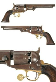 Colt 1851 Augusta  Extremely Rare Documented Confederate Augusta Machine Works Percussion Twelve-Notch Style Revolver  Known as the Revolver of Colt Model 1851 Navy type, these rare Confederate revolvers were manufactured circa 1861 to 1864 with a total production of only about 100 and only a few are known today.These revolvers were very well made and (like most Confederate revolvers) are almost identical in appearance to the Colt Model 1851 Navy revolvers. Among the revolvers made in the… Black Powder Guns, Revolver Pistol, The Lone Ranger, Hunting Guns, Le Far West, Military Weapons, Guns And Ammo, Old West, Shotgun