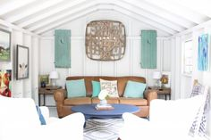 One Room Challenge She Shed Reveal. 2 Bees in a Pod She Shed makeover. Farmhouse She Shed. Rustic Shed Shed Makeover.The Hive. White Paint Colors, White Paints, She Shed Interior Ideas, Rustic Shed, Shed Makeover, Diy Shed Plans, She Sheds, Shed Homes, Woman Cave