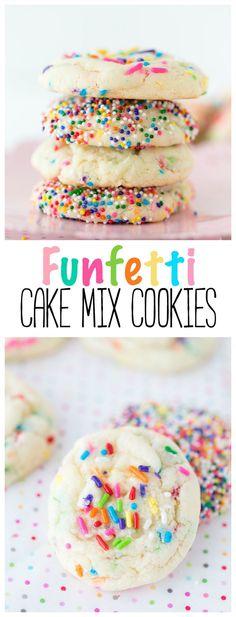 Funfetti Cake Mix Cookies | Cookies | Cake Mix Recipe | Cake Mix |