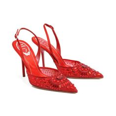 Famous Red Shoes with Ruby by René Caovilla