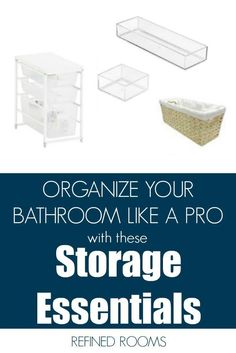 Get the scoop on what this professional organizer considers the 3 MUST HAVE organization and storage tools for the kitchen. Get ready to whip the kitchen chaos into shape! Home Organization Hacks, Organizing Your Home, Bathroom Organization, Bathroom Storage, Organizing Tips, Small Bathroom, Bathrooms, Small Space Interior Design, Tool Storage