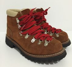 Vintage Scats by Gallenkamp Hiking Mountaineering Leather Boots Size 7.5 B #ScatsbyGallenkamp