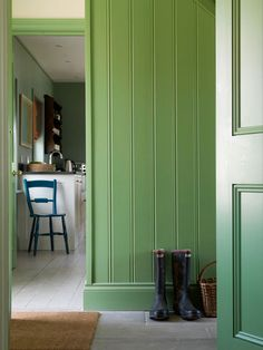 Ben Pentreath Ltd Boot Room, House Design, Colorful Interiors, Interior, Green Decor, Green Rooms, Country Interior, Home Decor, House Colors