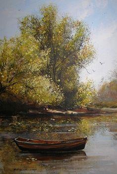 Bényi Emese-Őszi lombok - Tájkép festmény